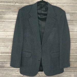 Robert Stock Blue Wool/Cashmere Blazer 38R VGUC
